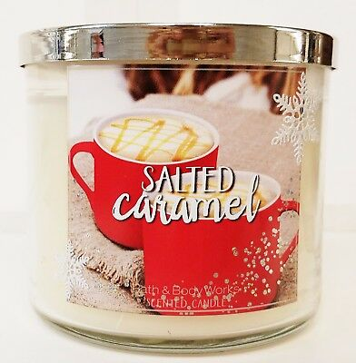1 Bath & Body Works SALTED CARAMEL Large 3 Wick Candle 14.5 oz NEW