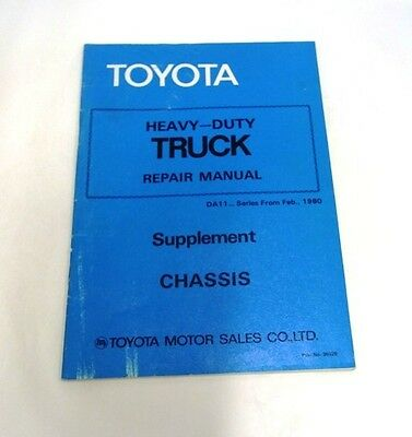 Toyota Heavy-Duty Truck  Repair Manual Supplement Chassis