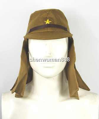 Wwii 2 Japanese Imperial Army Soldier Field Wool Cap Hat With Havelock Neck Flap