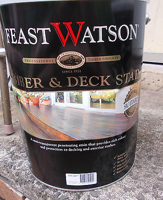 """Feast Watson Timber & Deck Stain """"BLACK JAPAN"""" 4 Litre can  - pick up only"""