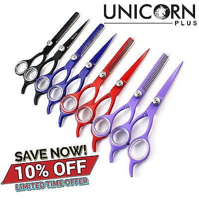 "5.5""Professional Hairdressing Salon Scissors Thinning Barber Haircutting Shears"