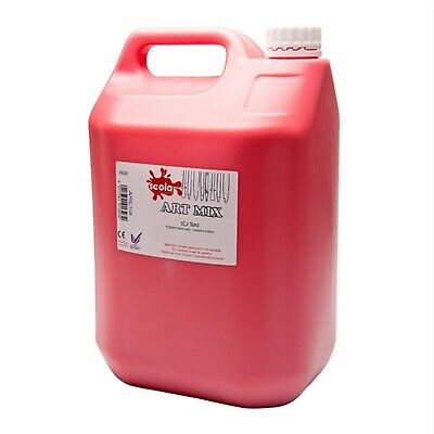 Scola Artmix AM5LT/24 High Quality Ready Mixed Tempera Paint 5 Litre Red