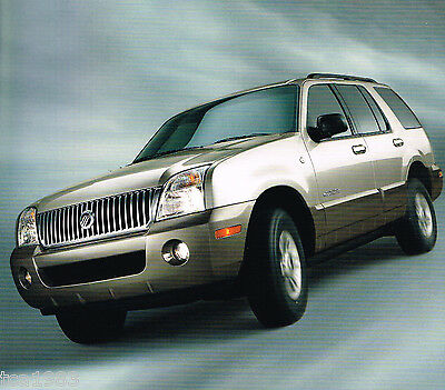 2002 Mercury MOUNTAINEER Brochure / Catalog with Color Chart: AWD,
