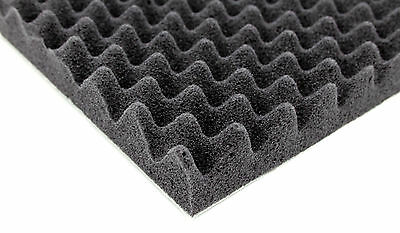 2 Sheets 35 mm 50x60cm Car Sound Absorbing Deadening Acoustic Self-adhesive Foam
