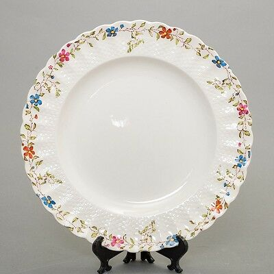 """Set of 12 COPELAND SPODE Wicker Dale Dinner Plates with Floral Pattern 10 1/2"""""""
