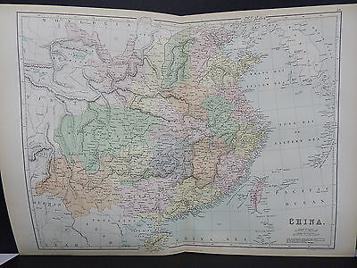 Black's 1876 Atlas, China, Double Page Map S8