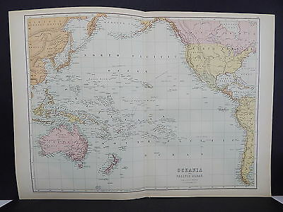 Black's 1876 Atlas, Oceania and the Pacific Ocean, Double Page Map S9#1