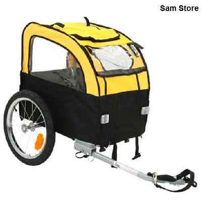 Small Dog Bike Trailer Puppy Folds Down Eldery Poorly Pets Ventilation Max 25kg