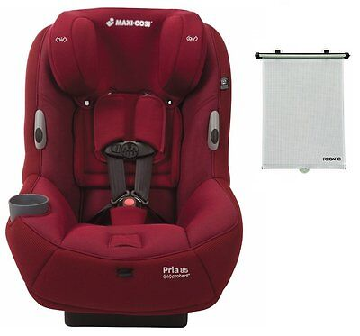 Maxi-Cosi Pria 85 Ribble Convertible Car Seat New Dehli Red With Recaro Sunshade