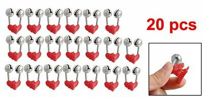 20pcs Night Fishing Rod Clamp Tip Clip Ring Fish Bait Alarm Bells Red Tone N3