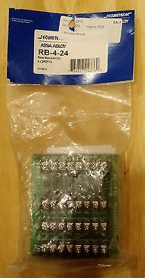 Securitron 24VDC Relay Board  - Has 4 DPDT 1A Relays Model# RB-4-24
