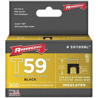 "Arrow Fasteners 591189BL T59 5/16"" x 5/16"" Black Insulated Staples, 1500-Pack"