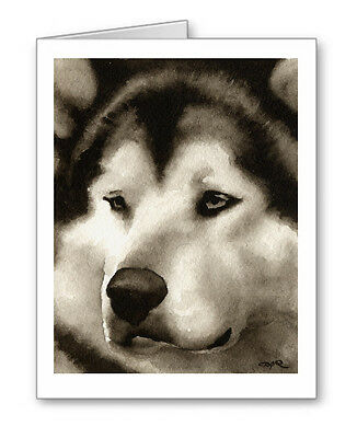 ALASKAN MALAMUTE note cards by watercolor artist DJ Rogers