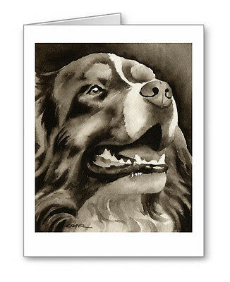 BERNESE MOUNTAIN DOG note cards by watercolor artist DJ Rogers