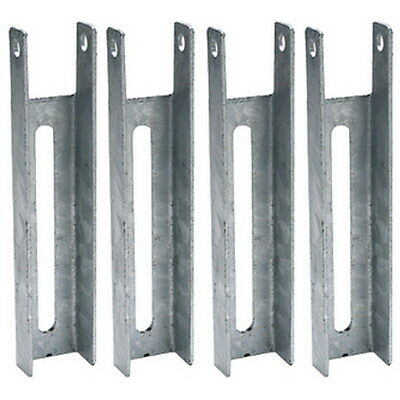 4 Pack 8 Inch Boat Trailer Hot Dipped Galvanized Adjustable Bunk Board Brackets