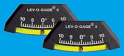 RV Camper Trailer Pkg.of 2-10 Degree Level Tilt Gauges Lev-O-Gage Jeep 4X4 Truck