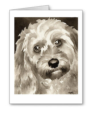 COCKAPOO note cards by watercolor artist DJ Rogers