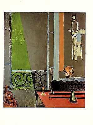 """1973 Vintage MATISSE """"THE PIANO LESSON"""" LOVELY COLOR Art Print offset Lithograph"""