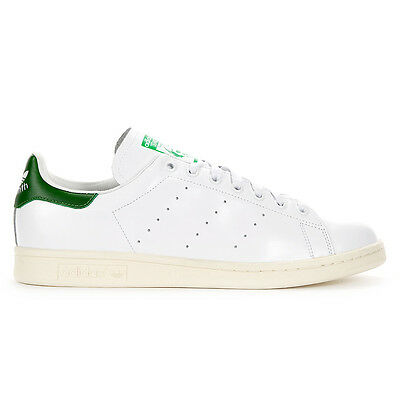 Adidas Men's Stan Smith White/Green Full Grain Leather Classic Shoes B24364 NEW!