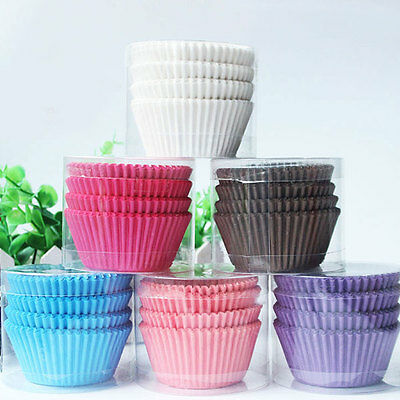 100Pcs Colorful Paper Cup Cake Baking Liners Muffin Cupcake Ice Cream Cases Mold