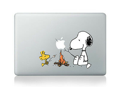 "Snoopy and Woodstock Camp Fire Sticker YF Decal Macbook Air/Pro/Retina 13""15"""
