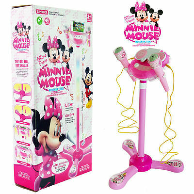 Mickey Minnie Mouse Educational Microphone Voicetube Toy Music Sound Light