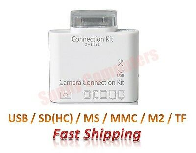 Camera Connection Kit SD SDHC TF MMC MS Card Reader for Apple iPad Air 5 Mini 2