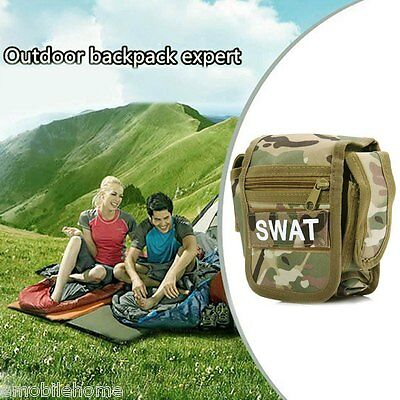 NEW!Outdoor Tactical Pocket Small Square Military Fans Tool Bag Mobile Pouch