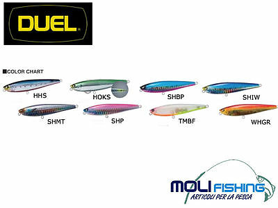 Artificiale Pesca Spinning Popper Duel Silver Dog 90 Mm Colori A Scelta  - New