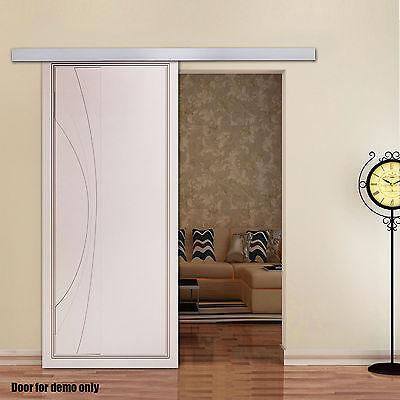 2M Sliding Barn Hardware Door Aluminum Alloy Track  Home Office Interior Closet