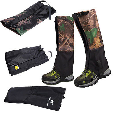 Waterproof Outdoor Climbing Hiking Snow Ski Gaiters Leg Cover Boot Legging Wrap