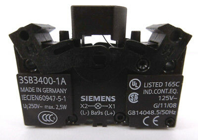 20x SIEMENS 3SB3 400-1A Lampenfassung BA9s ohne Lampe Lamp Holder without lamp