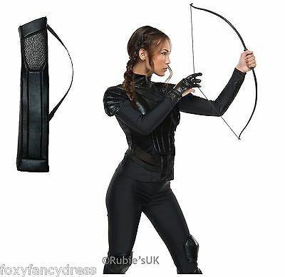Official THE HUNGER GAMES KATNISS EVERDEEN Glove Bow Quiver Fancy Dress Book Wee