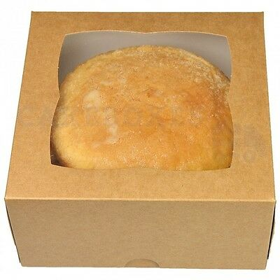 100 x 6x6x3inches. KRAFT CAKE BOX NEXT DAY DELIVERY * ORDERED B4 1PM