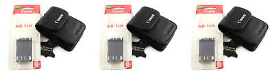 3 Brand new Genuine Canon NB-1LH Battery & Leather Case, Powershot Accessory Kit