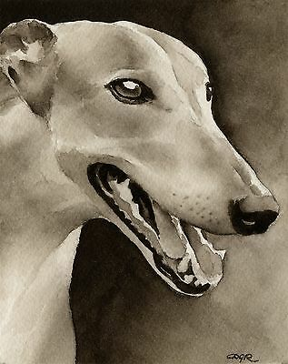 GREYHOUND note cards by watercolor artist DJ Rogers