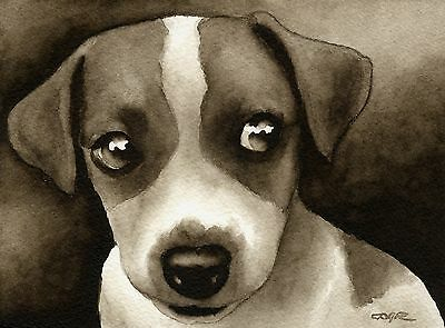 JACK RUSSELL PUPPY note cards by watercolor artist DJ Rogers