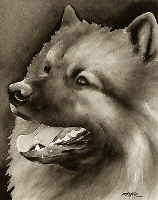 KEESHOND note cards by watercolor artist DJ Rogers