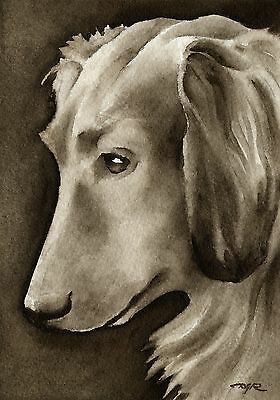 LONG HAIRED DACHSHUND note cards by watercolor artist DJ Rogers