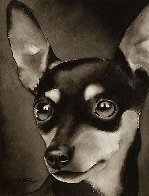 MINIATURE PINSCHER note cards by watercolor artist DJ Rogers