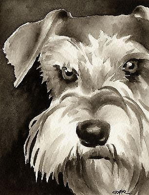 MINIATURE SCHNAUZER note cards by watercolor artist DJ Rogers