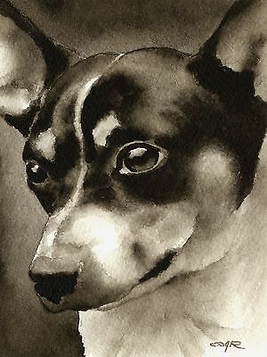 RAT TERRIER note cards by watercolor artist DJ Rogers