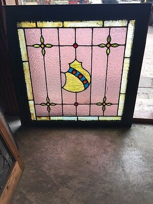 Sg 541 Antique Landing Window Floral  And Jeweled