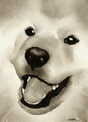 SAMOYED note cards by watercolor artist DJ Rogers