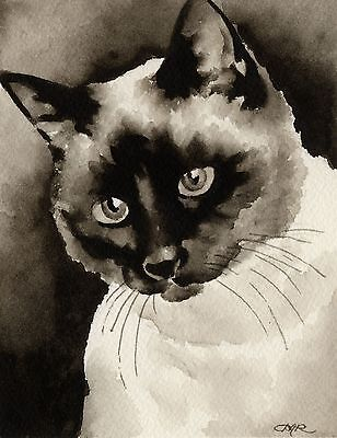 SIAMESE CAT note cards by watercolor artist DJ Rogers