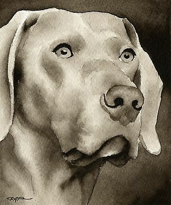WEIMARANER note cards by watercolor artist DJ Rogers