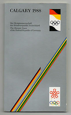 Orig.Media / Team Guide    Olympic W.Games CALGARY 1988 - TEAM GERMANY  !!  RARE