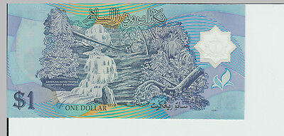 1996 $1 Brunei Polymer Banknote - Pick 22a - Unc C/2020741