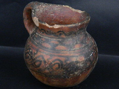 Ancient Large Size Teracotta Painted Juglet Islamic 900 AD #PT15125