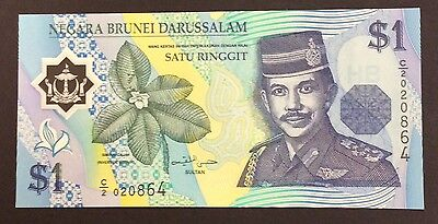 1996 $1 Brunei Polymer Banknote - Pick 22a - Unc C/2020864